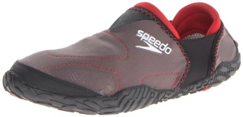 Speedo Men's Offshore Amphibious Pull On Water Shoe,Dark Gull Grey/Black,10 M US