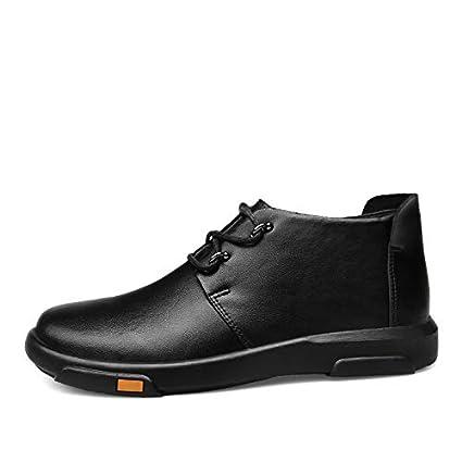 Qiusa Zapatos de Cuero Genuino para Hombre Botines de Chukka Ocasionales Ocasionales Botines (Color :