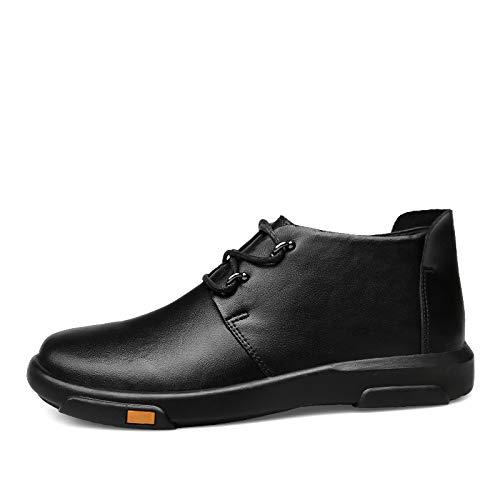 Qiusa Mens Echtes Leder Schuhe Schnüren Durable Casual Chukka Stiefel Stiefel Stiefel Ankle Stiefel (Farbe   Schwarz, Größe   EU 43) 11e3f4