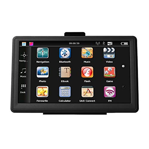 SAT NAV GPS Navigation System GPS 7-inch 8GB high-Brightness sat nav and Touchscreen 7 Inch 8GB 256MB Car Truck Lorry Satellite Navigator Device, Post Code Search Speed Camera Alerts