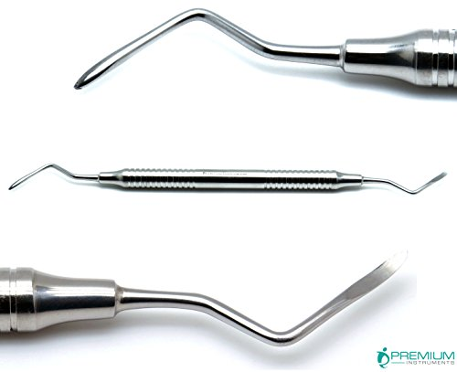 Dental Heidbrink 2-3 Elevators Root Tip Pick Hollow Handle Double Ended Surgical Implant Instruments ()