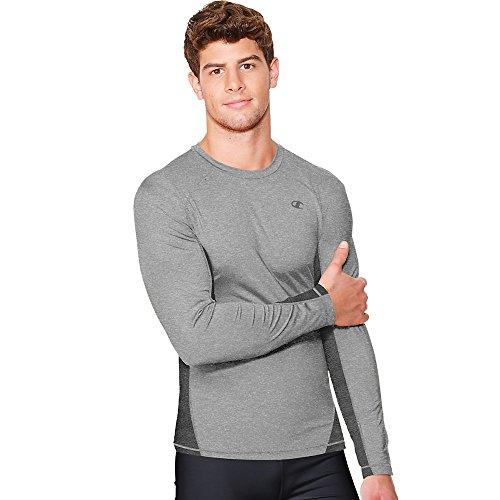 13bc1989 Champion Men's Powertrain Long Sleeve T-Shirt, Oxford - Import It All