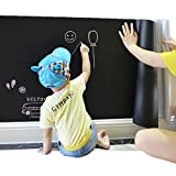 Large Chalkboard Decal Black Wall Sticker Adhesive Contact Paper (24''x79'')