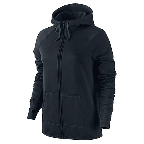 Women's Nike All Time Full-Zip Training Hoodie Black Size Large