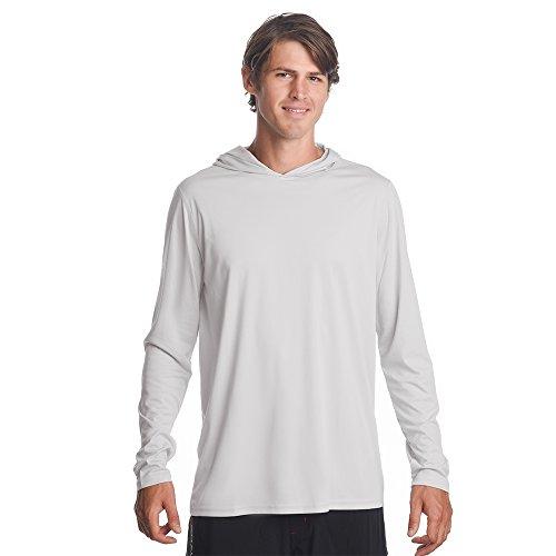(Denali Performance Men's Teaser UPF 50+ ProtectUV Mega Solar Long Sleeve Hoodie (White, XXX-Large))