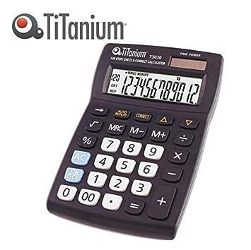 Titanium Calculadora de mesa 12 dígitos 73030 Titanium: Amazon.es ...