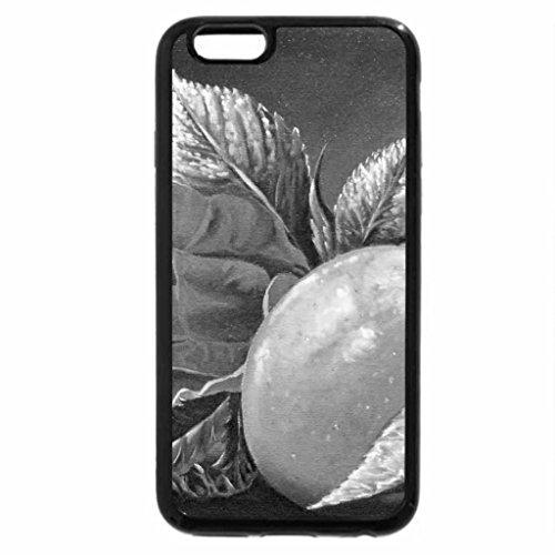 iPhone 6S Plus Case, iPhone 6 Plus Case (Black & White) - Rose & Apple