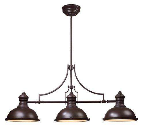 - ELK Lighting 66135-3 Chadwick 3-Light Billiard Light, 21-Inch, Oiled Bronze