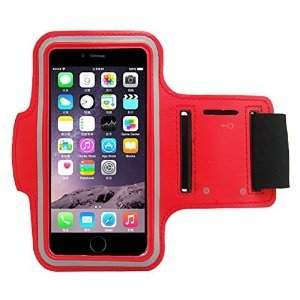 Minisuit Sporty Armband Running Gym Mobile Phone Running Cover Arm Band for Iphone 6 /6s. (Red)
