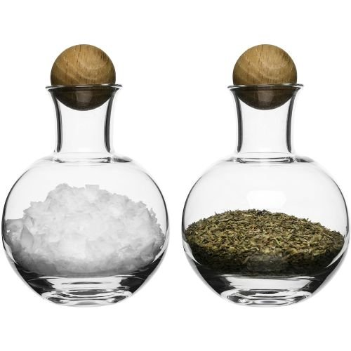 Sagaform 5016554 Spice/Herb Storage Bottles with Oak Stoppers (Spices Stoppers)