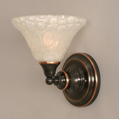 Wall Sconce w Italian Bubble Glass Shade