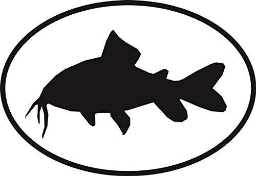 Vinyl Overlays 720 Catfish Euro Oval Bumper Sticker 5