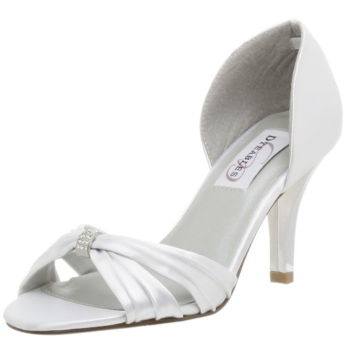 Dylyles Womens Madeliefje Dyeable Pump White