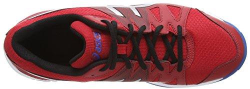 ASICS Gel-Upcourt - Zapatillas de squash para hombre Rojo (Fiery Red/Silver/Electric Blue 2393)