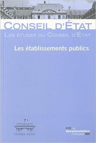 Les établissements publics pdf ebook