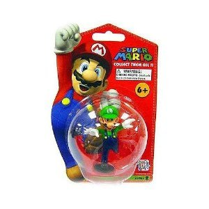 Super Mario Brothers Master Replicas 3 Inch PVC Figure Series 2 Luigi  ()