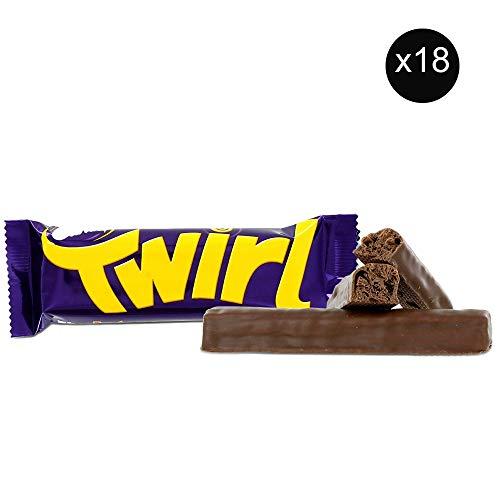 Cadbury Twirl | Total 18 bars of British Chocolate Candy - Cadbury Twirl (Chocolate Twirl)