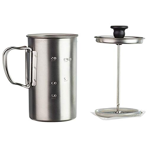 (Snow Peak Men's Titanium Coffee Press, Silver, One Size)