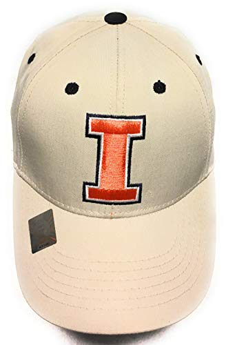 Captivating Headgear University of Illinois Fighting Illini Khaki Cap ()