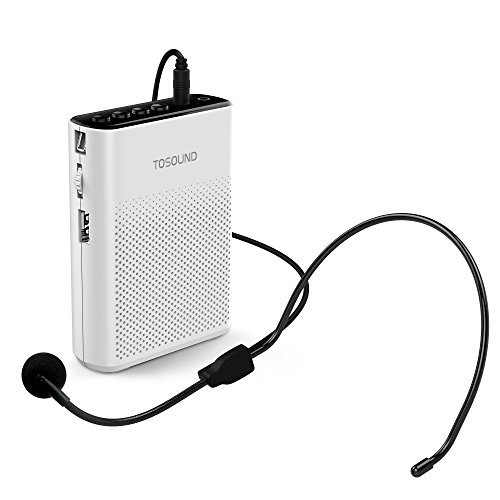 TOSOUND TS200 Mini Rechargeable Ultralight Portable Voice Amplifier, Support Waistband & Belt Clip Loudspeaker for Tour Guides, Teachers, Coaches, Presentations, Market promotion, Etc. - Removable Microsd