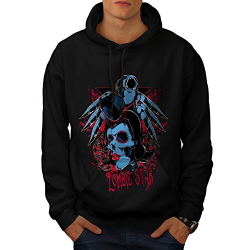 Evil Zombie Star Rise Nightmare Men L Hoodie | Wellcoda (Love Bite Vampire Costume)