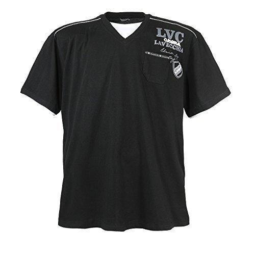 Übergrößen T-Shirt von Lavecchia, schwarz bis 7XL, Größe:7XL