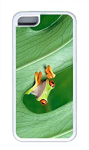 covers the best Red Eyed Tree Frog TPU White Case for iphone 5C