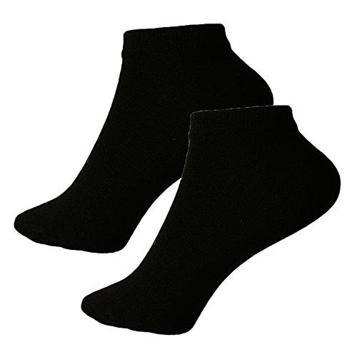 12 Paar Damen-Herren Sneaker-Socken Füßlinge 39/42 Schwarz