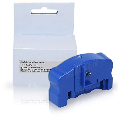 INKUTEN (TM) Chip Resetter for 252 T252 T254 Ink Cartridges Workforce WF-3620, WF-3640, WF-7110, WF-7610, WF-7620