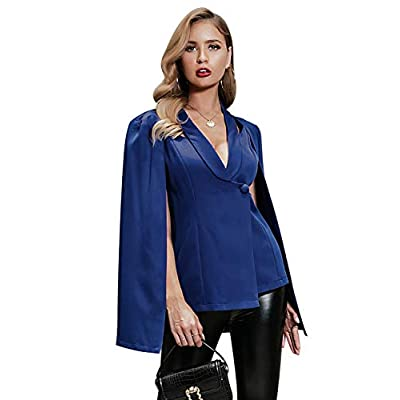 Glamaker Women's Elegant V Neck Open Slit Sleeve Blazer Coat Cape Cut Out Casual Cloak Jackets Cardigan at  Women's Coats Shop
