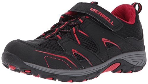 Merrell Trail Chaser Hiking Shoe (Little Kid/Big Kid),Black/Red,2.5 Medium US Little Kid
