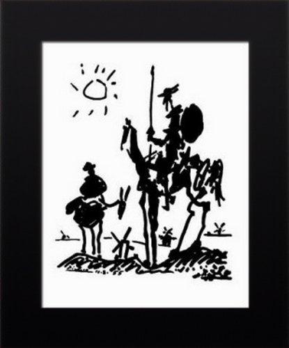 11x14 FRAMED Pablo Picasso Don Quixote Art Poster Print