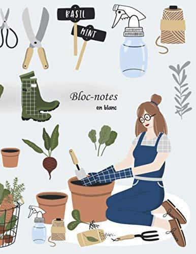Bloc-notes en blanc: Pour les jardiniers - format A4 | 112 pages | carnet avec index | idéal comme agenda, carnet de croquis, carnet de croquis, ... ou cahier à colorier vide (French Edition) ()