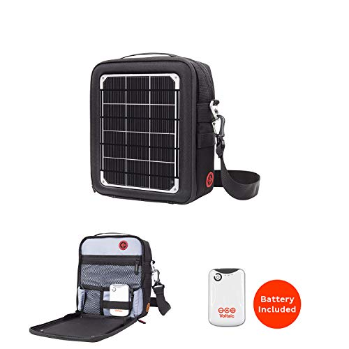 Voltaic Switch 6-Watt Solar Charger and 4,000mAh Rechargable Battery (Silver) ()