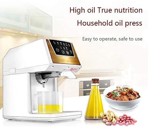 HEWXWX Machine de Presse à Huile 220V Extracteur d'huile Automatique Froid/Chaud 130W, Commercial/Maison, matériau ABS à contrôle Tactile, pour graines de sésame d'arachide