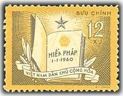 Vietnam Stamps   1960  Sc 131  Vn Code   71  First Constitution Of The Democratic Republic Of Vietnam  Mnh  F Vf