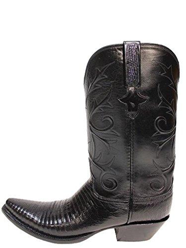 Lucchese Women Black Lizard Classic S5/4 Boot - 8.5 - M/B (Lucchese Lizard Boots)