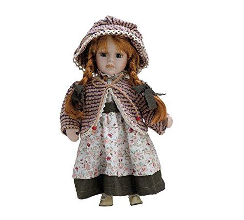Bambola di porcellana di 30cm con supporto. Anneta–bam018 Hobby Work