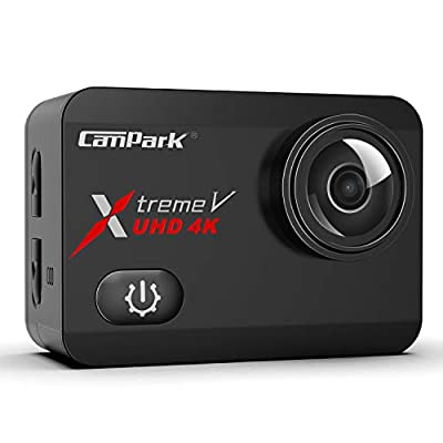 Campark X30 4K Action Camera 20MP EIS Anti-Shake Touch Screen 1080p 120fps Sports Underwater 40m Waterproof Video Cam Adjustable View Angle WiFi Digital Cameras with Two 1350mAh Batteries