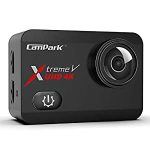 Campark X30 4K Action Camera 20MP EIS Anti-Shake Touch Screen Sports Underwater 40m Waterproof Video Cam WiFi Digital Cameras with Two 1350mAh Batteries Mounting Accessories Kits Compatible with gopro