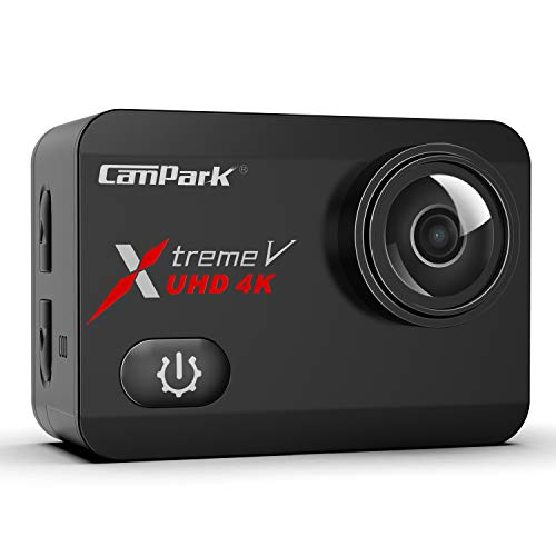 Campark X30 Native 4K 60fps Action Camera 20MP with EIS Anti Shake Touch Screen WiFi Waterproof Camera 40m with 2 1350mAh Batteries, 1 Charger and Mounting Accessories