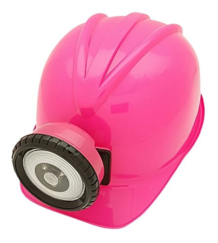 Toy Miner's Helmet with Functional LED Light (Coal Miner Fancy Dress Costume)