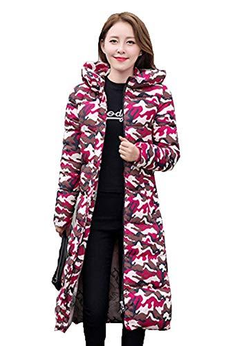 Grandes Chaqueta Fashion Invierno Tallas Largos Huixin Abrigo Acolchada Día Elegantes Rot Delgado Pluma 1 Termica Encapuchado Modernas Parka Largo Outdoor Acolchado Manga Mujer w44qXaAF