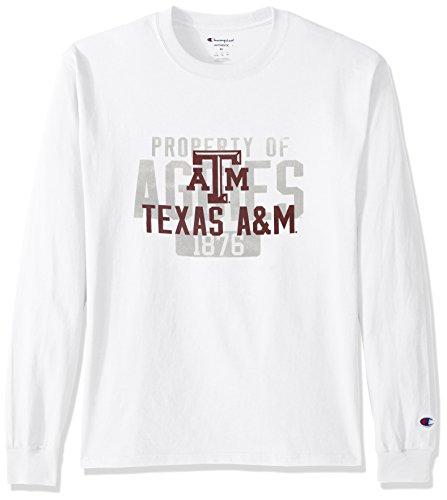 NCAA Texas A&M Aggies Men's Champ Long sleeve Tee 2, Medium, (Aggies Long Sleeve)