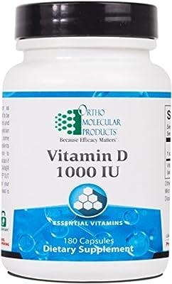 Ortho Molecular - Vitamin D 1,000 IU - 180 Capsules