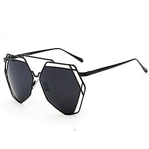 SG80014 Gift Sunglasses for Women,Fashion Oval Polarizer - UV400/Black Frames/Black Lens