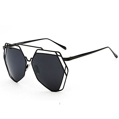 SG80014 Gift Sunglasses for Women,Fashion Oval Polarizer - UV400/Black Frames/Black - Hut About Sunglass