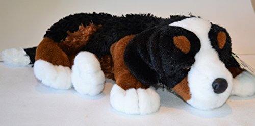 Reclining Bernese Mountain Puppy - Stuffed Animal Therapy for People with Memory Loss from Aging and Caregivers by Memorable Pets