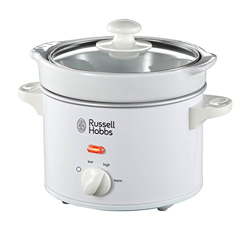 -[ Russell Hobbs Compact Slow Cooker 22730, 2 L - White  ]-
