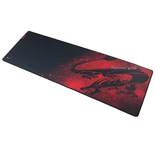 Extended Gaming Mouse Mat / Pad - XXL Large, Wide (Long) Black Mousepad, Stitched Edges / 35*11.5*0.12 inch for Corsair Raptor M45-5000 DPI Optical Sensor Gaming Mouse (Raptor M45) /Etekcity Scroll Alpha High Precision 8200DPI Wired USB Laser Gaming Mouse with 8 Programmable Buttons for Desktop and Laptop, both Ergonomic and Symmetrical Design /DLAND Gaming Mouse (Raptor M45 Gaming Mouse)
